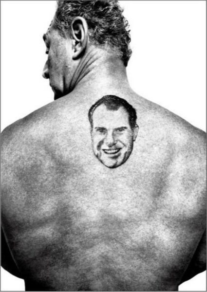 Roger Stone's tattoo of Nixon